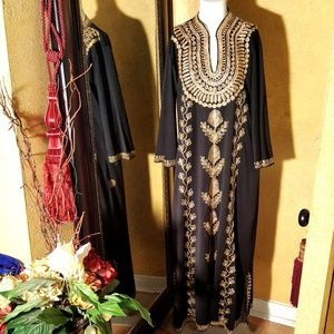 Moroccan Abaya  Gown Caftan Embroidered long L/XL